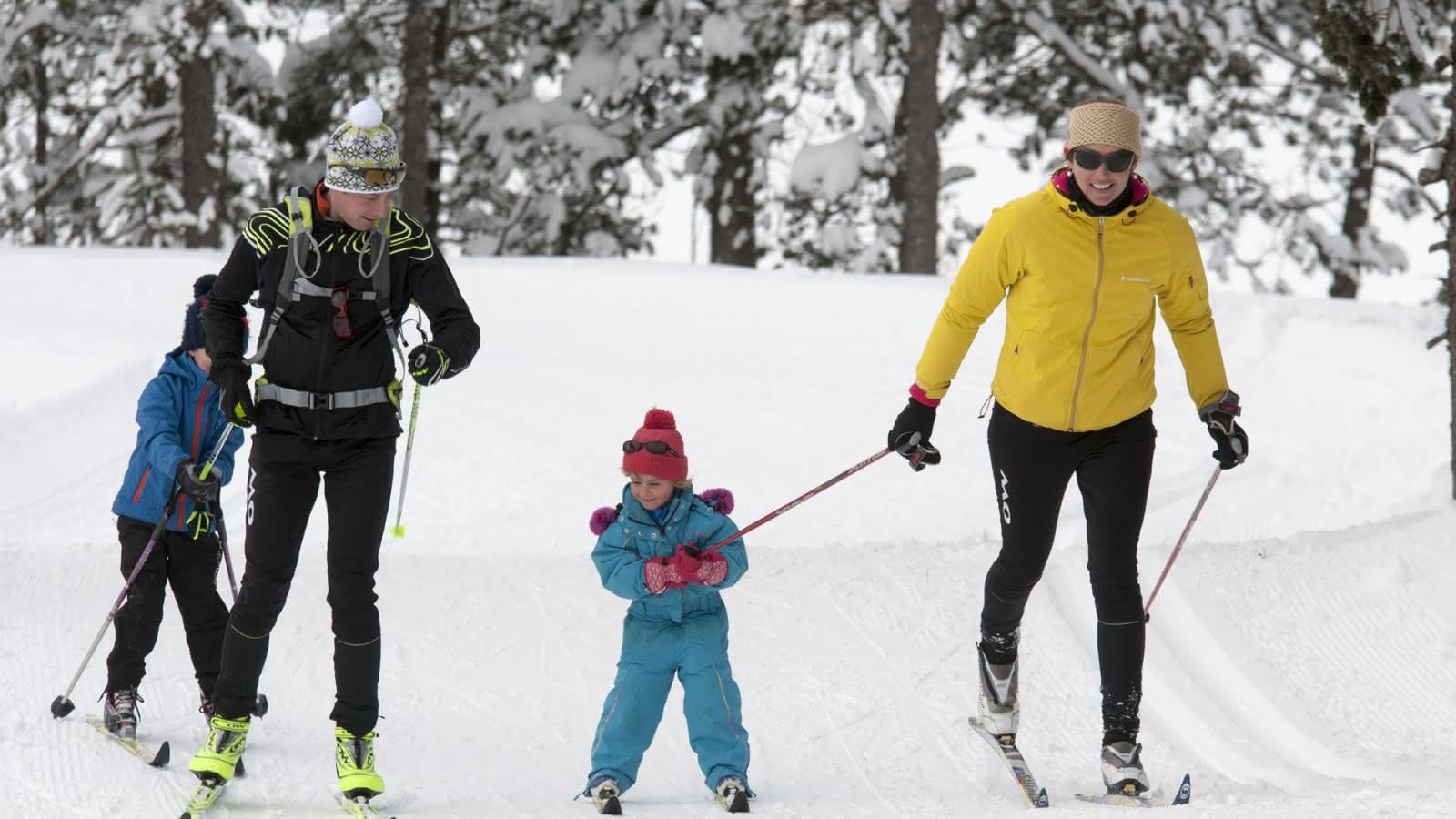 ski de fond ski nordique en famille