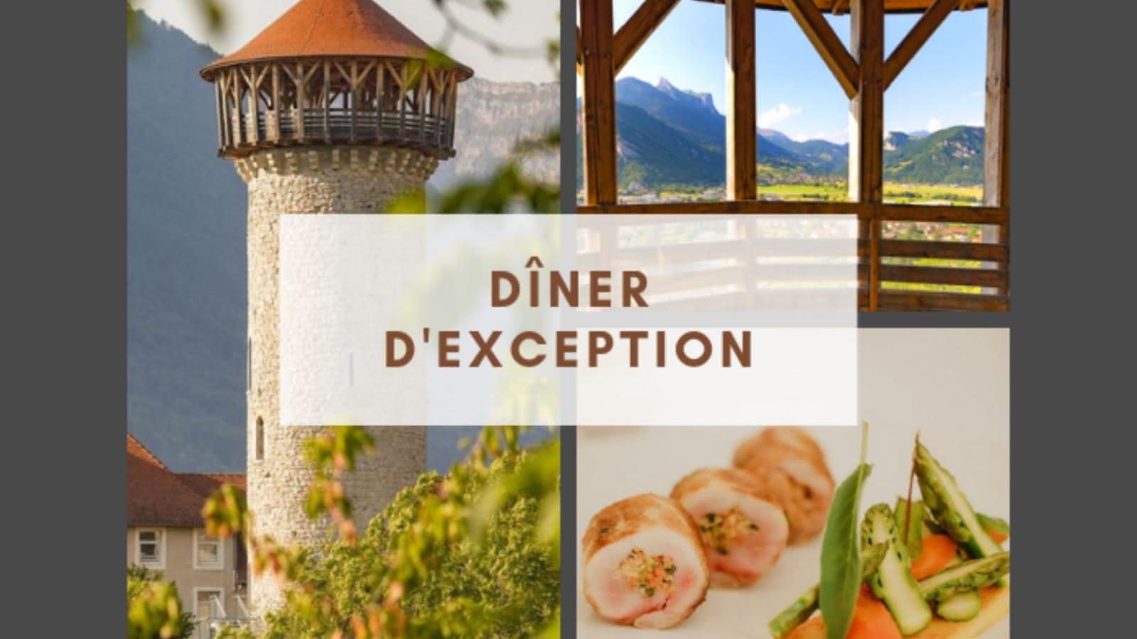 Dîner d'exception tour du château donjon des Seigneurs cuisine gastronomique