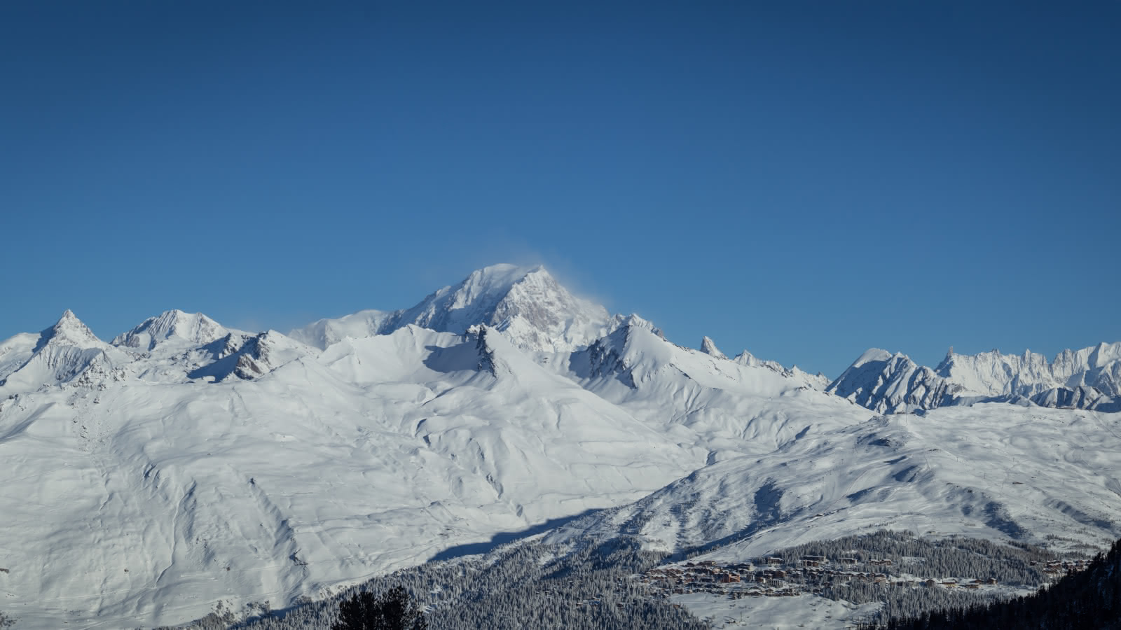 la rosiere et le mont blanc