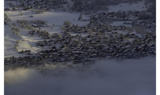Vue de Séez en hiver