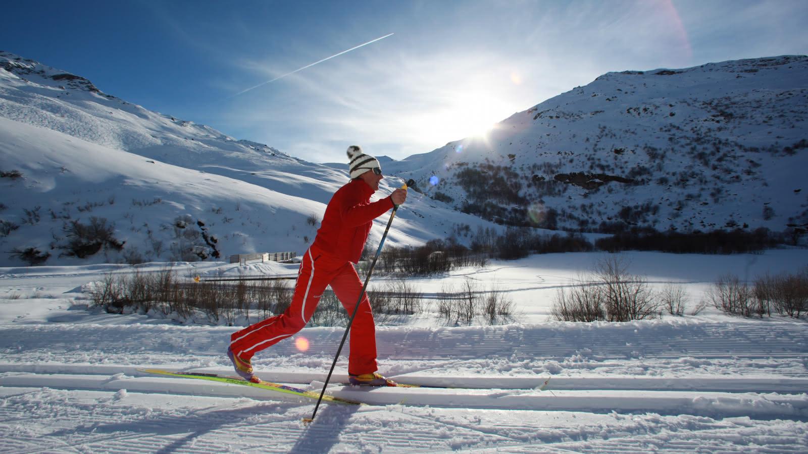 Ski de fond avec l'E.S.F des Menuires