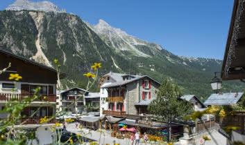Le village et ses commerces fleuris
