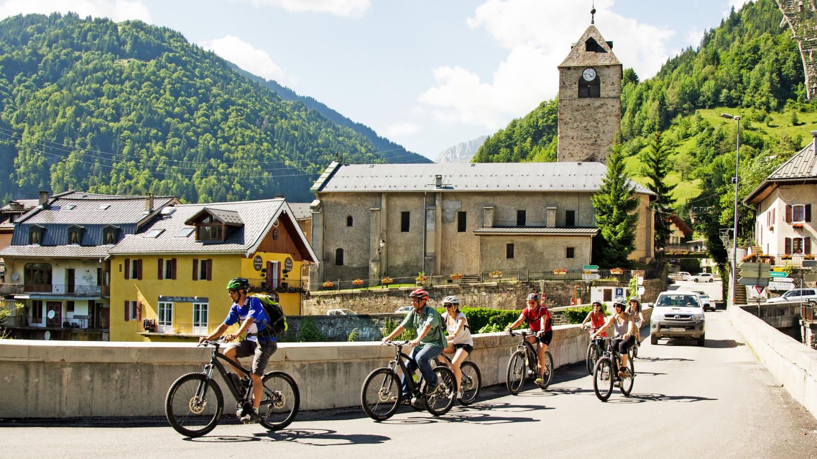 Itinéraire en Vélo Electrique à Flumet
