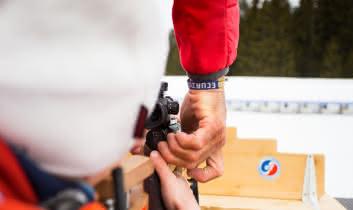 Biathlon avec l'ESF des Saisies