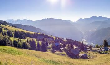 Petits chalets et appartements confortables avec vue sur le Mont-Blanc et le Beaufortain