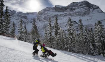 Ski assis avec l'Anaé