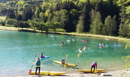 Canoë Kayak plan d'eau Bozel