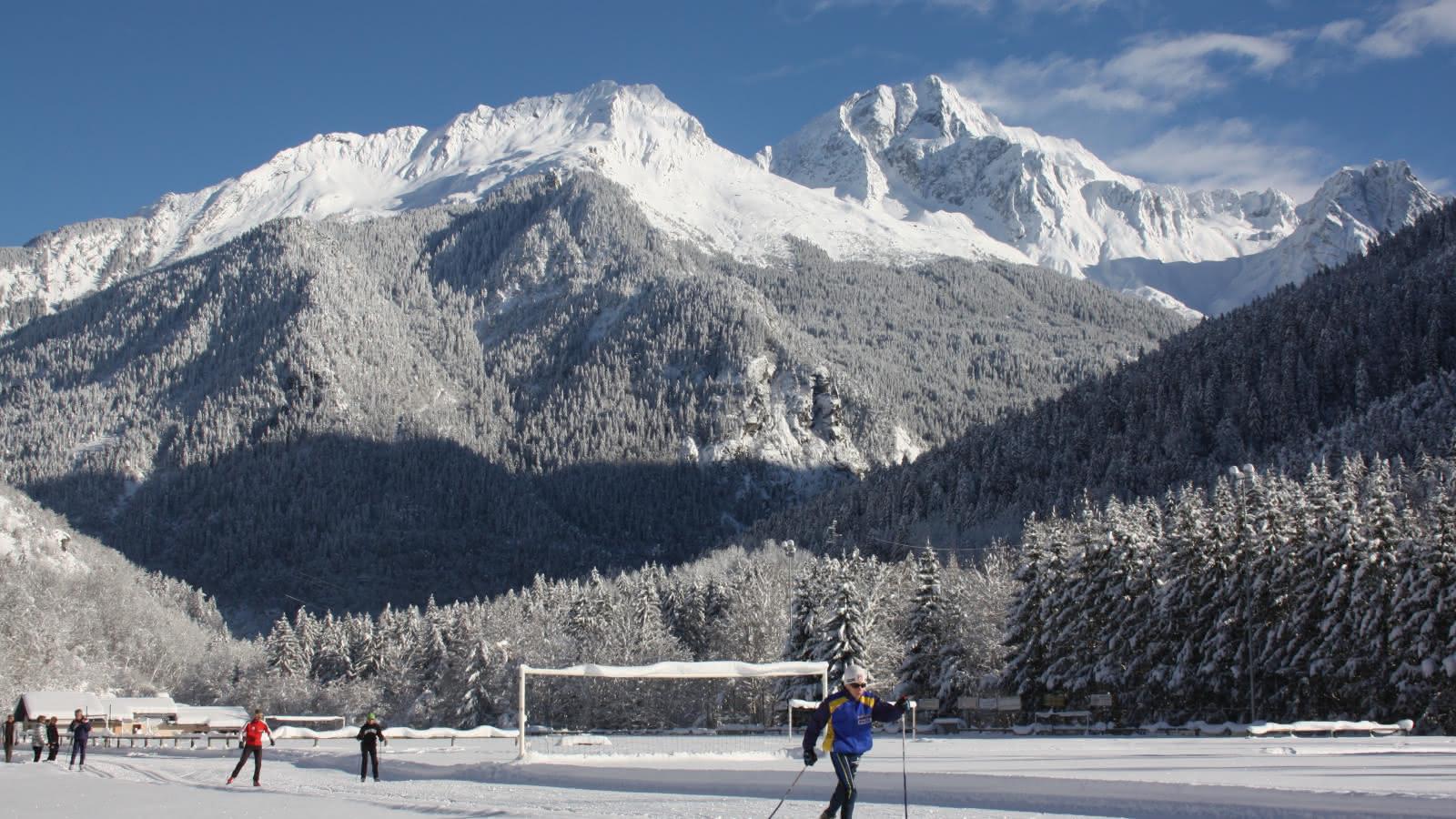 Bozel ski de fond devant Grand Bec