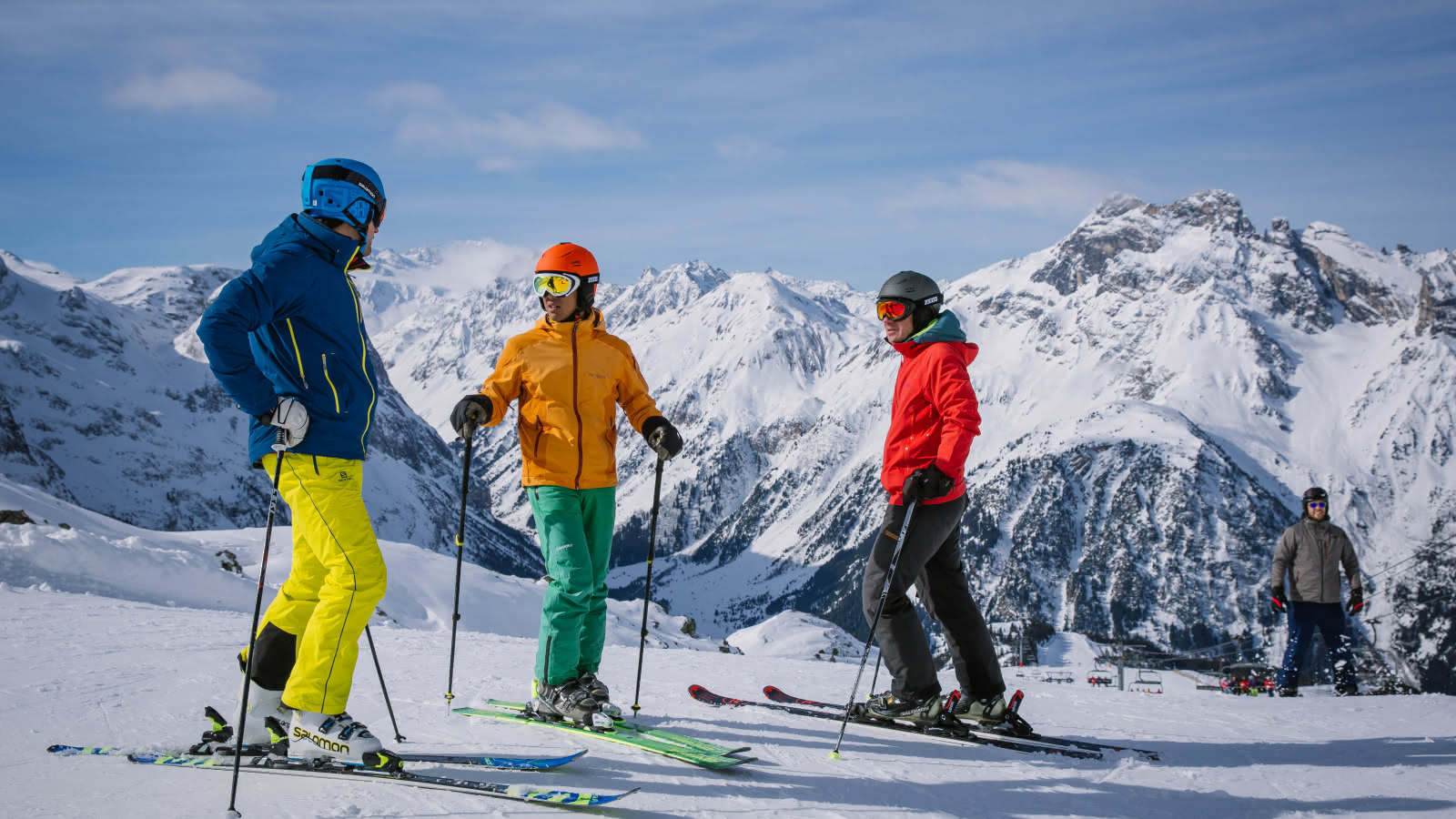 Famille de skieurs