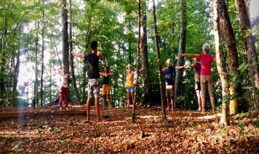 Atelier dans la forêt