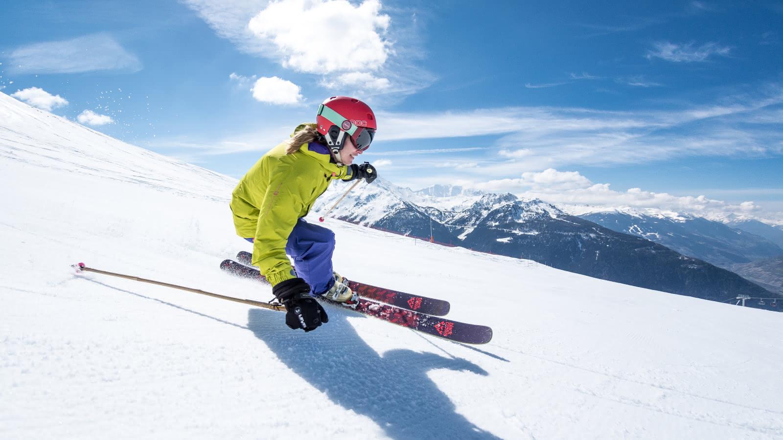 Ski au soleil à La Rosière