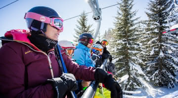 Noël aux saisies: on skie en famille