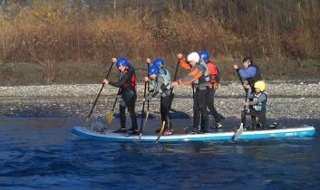 Paddle Géant sur 'Isère entre Gilly et Frontenex