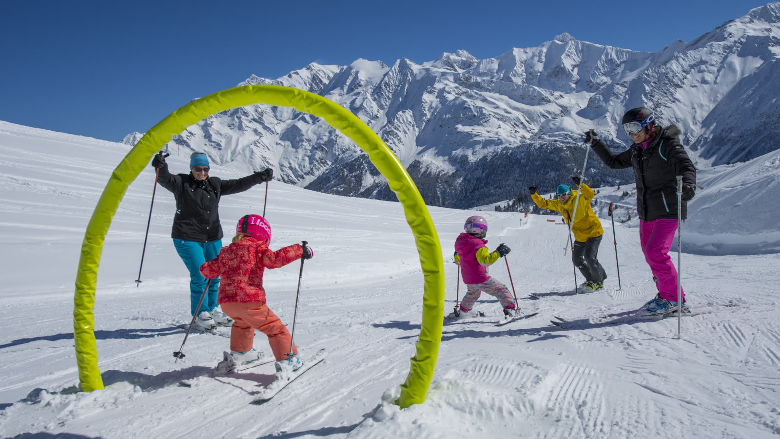 Le parcours ludique pour petits et grands au coeur du domaine skiable des Contamines