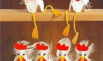 Une famille de poules