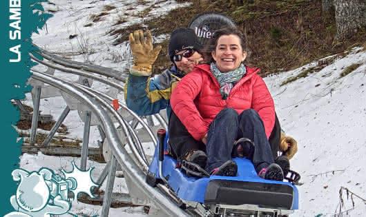 Luge sur rails station de ski alpin La Sambuy