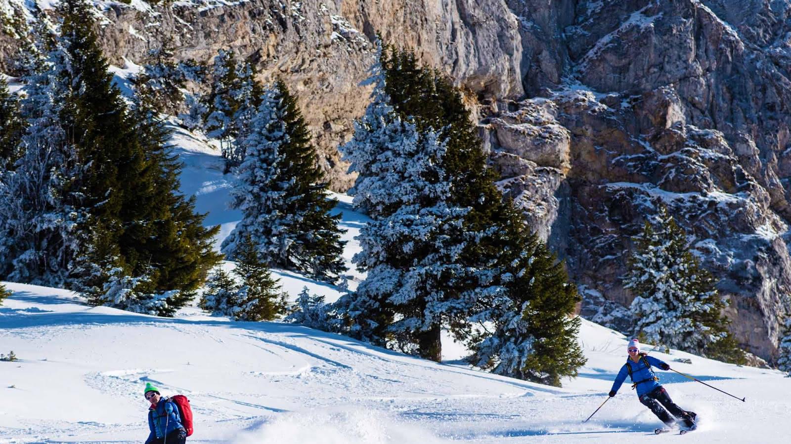 ski de randonnée proche lac d'Annecy