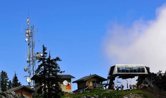 Vue du Mont-Blanc depuis La Sambuy