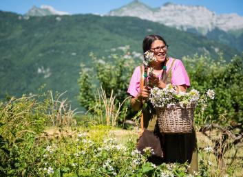 Sabrina panier cueillette fleurs