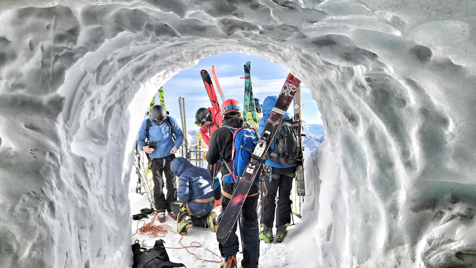 tunnel de neige au départ