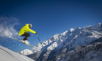 Du grand ski, face au Mont-Blanc !