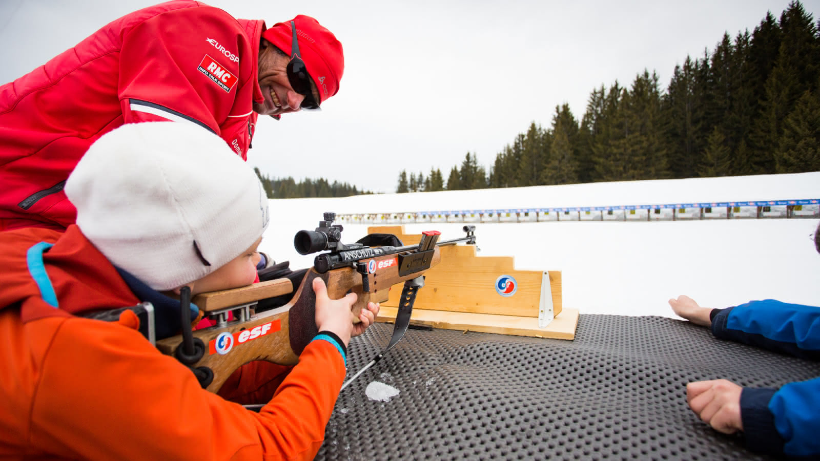 Biathlon tir couché
