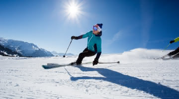 Skier tranquille aux Saisies