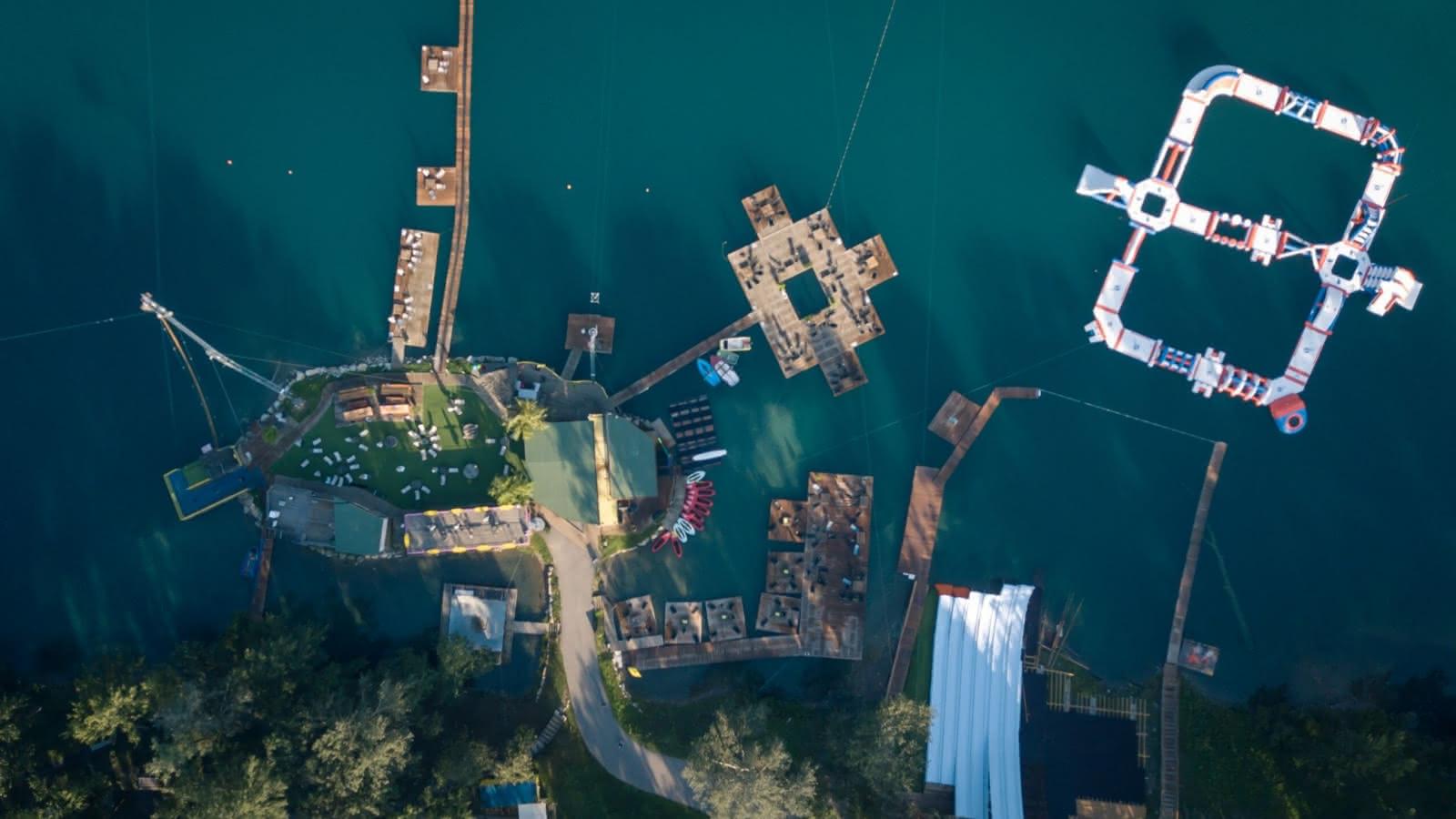 vue aérienne Wam Park water park