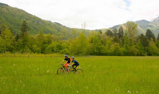 easy marked mountain bike route
