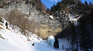 Cascade du Dard - La Giettaz - Hiver