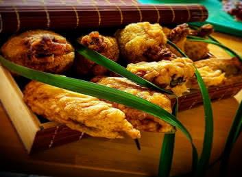 Piments farcis croquettes de poulet