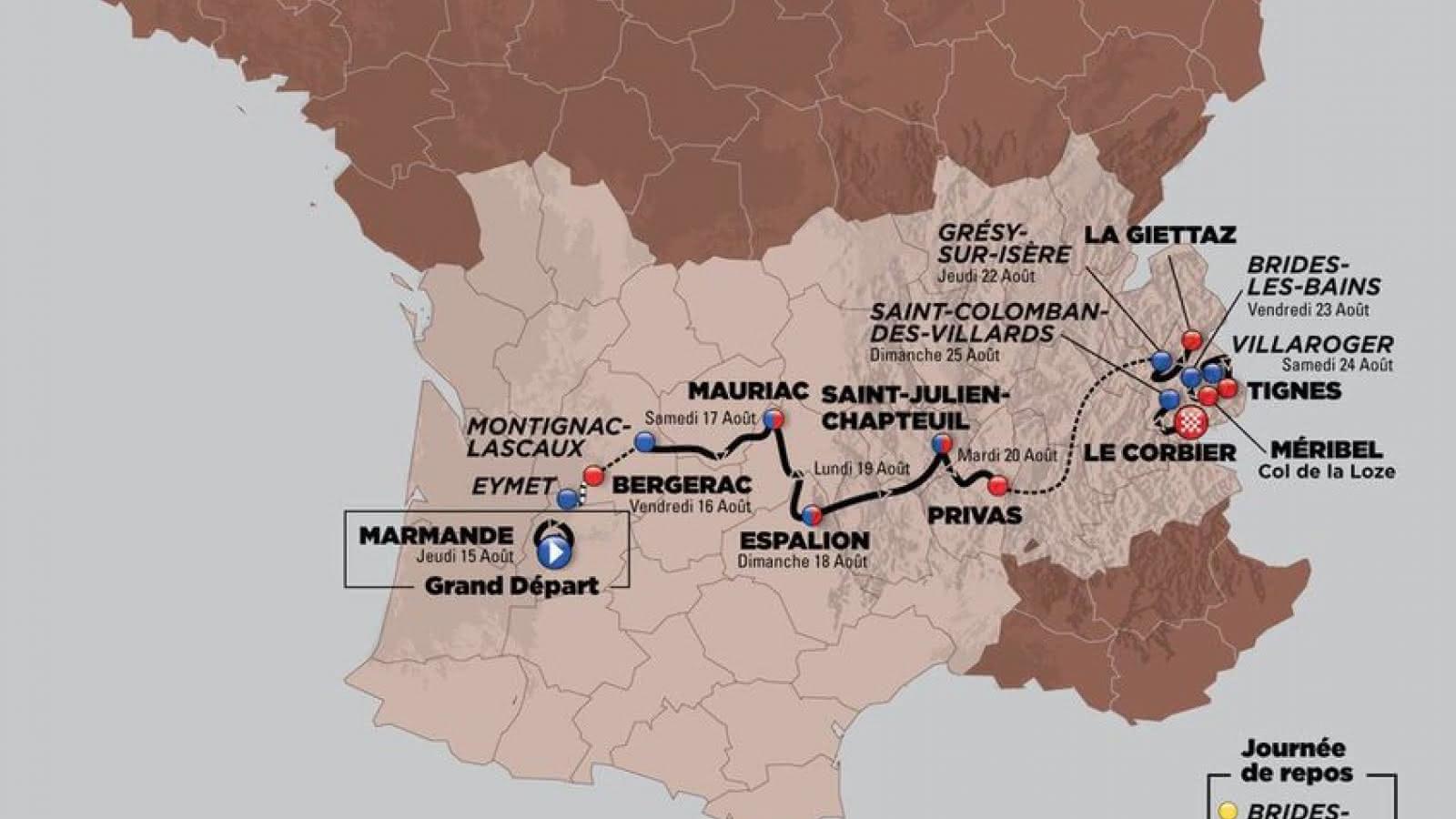 Parcours Tour de l'Avenir 2019