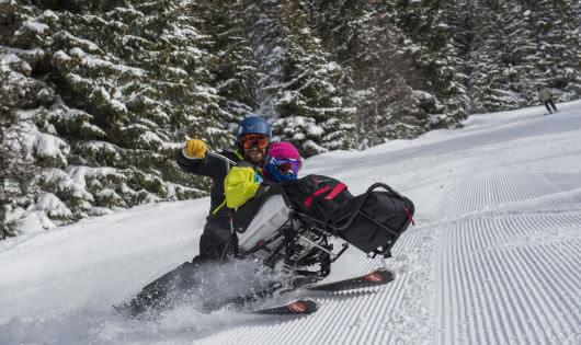 Fauteuil ski avec pilotei