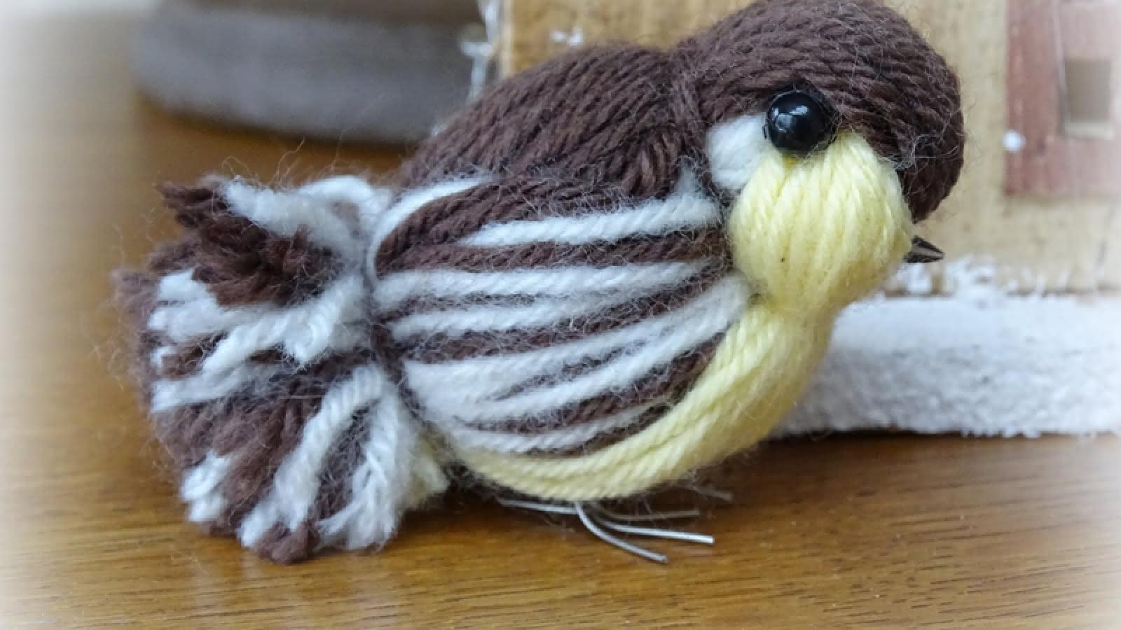 Oiseau en laine