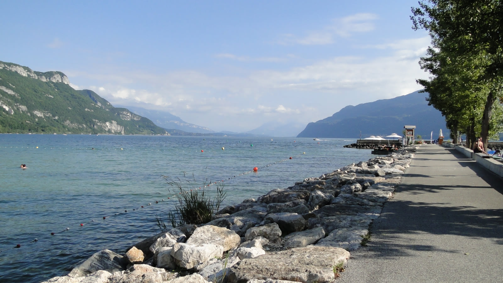 Plage du Chatillon, lac du Bourget