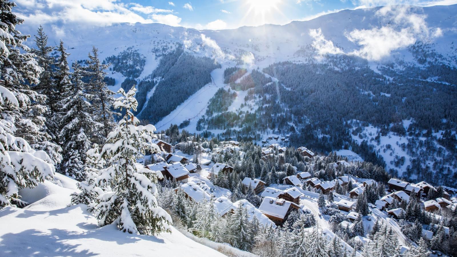 paysage de neige féérique à Méribel coeur des 3 Vallées
