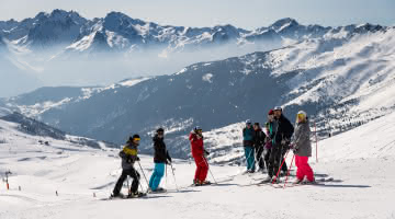 Groupe de skieurs