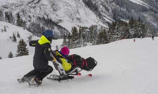 Ski assis avec l'AOT Pralognan-la-Vanoisenaé