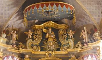 Le retable baroque de l'église de Hauteluce