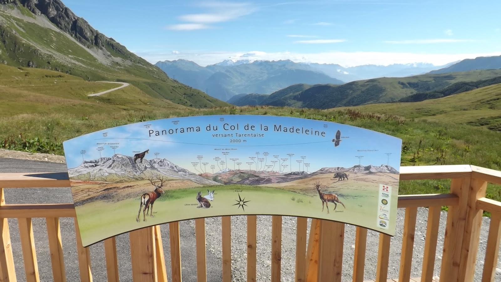 Table d'orientation Col de la Madeleine