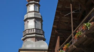 Clocher de l'église d'Hauteluce