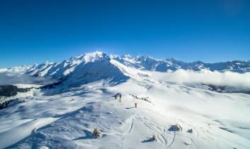 Sommet du Domaine Skiable - Vue sur le Mont-Blanc