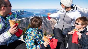 View lake Annecy family picnic