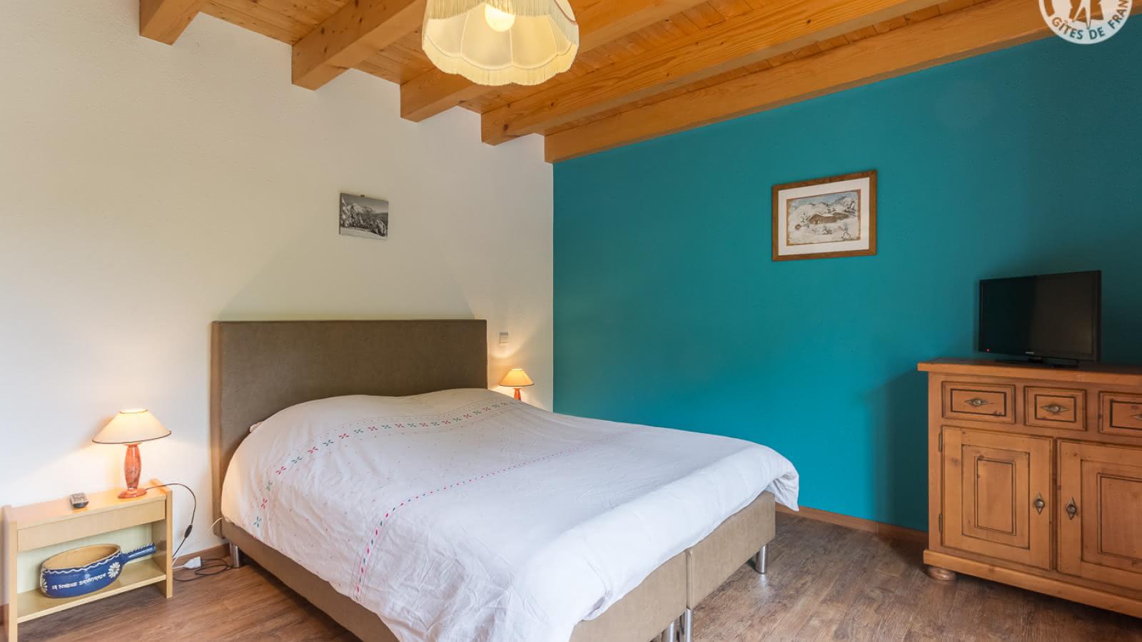 La chambre à grand lit du 1er étage Lit 160x200