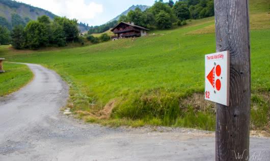 Tour du Val d'Arly en VTT Electrique - Balisage