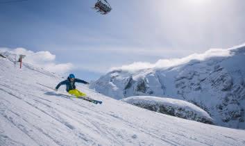 Skieur sur le secteur du Mont-Bochor