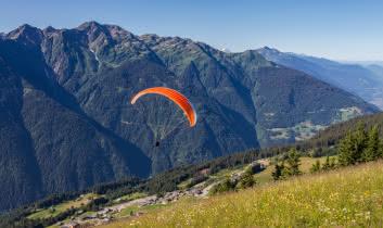 Vol entre le Mont Bisanne et Beaufort