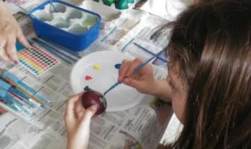 Peinture sur oeufs