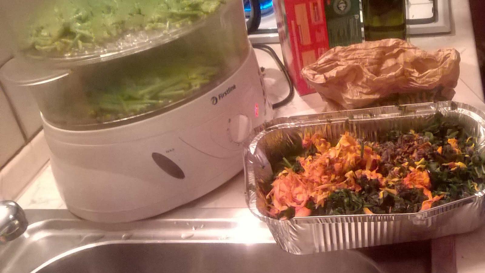 préparation culinaire aux plantes