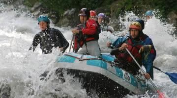 rafting sur le Doron de Bozel